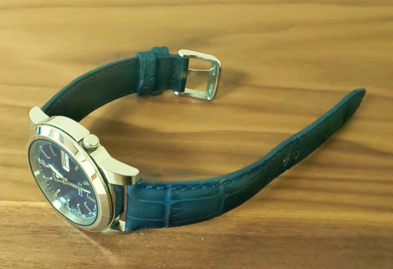 セイコー5 ブルー文字盤+ブルー革ベルト